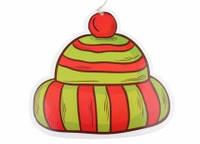 "Новогодний декор ""Зимняя шапка"" 31*30 см (пластик, глянцевая бумага)"