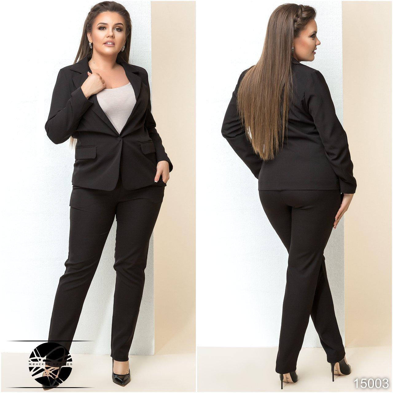 cda616254db Женский брючный костюм черного цвета  брюки и пиджак. Модель 15003 - Irse в  Одессе