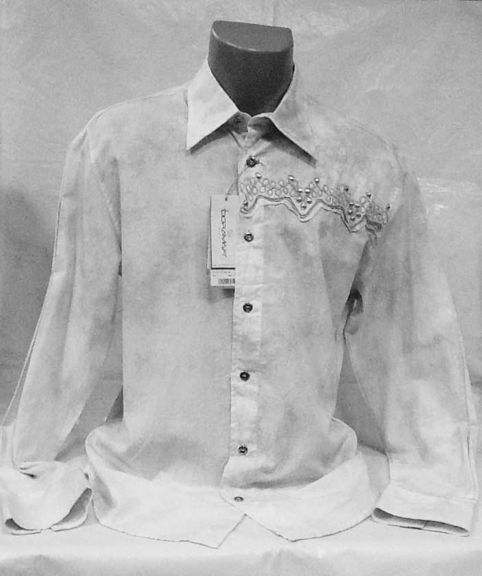 Рубашка Doramafi мужская светло серая, фото 1