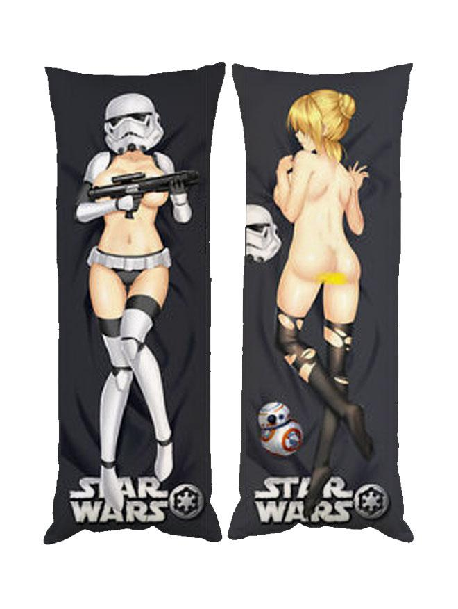 Подушка обнимашка дакимакура Star Wars двухсторонняя 40х100 см со съемной наволочкой (dak0263)