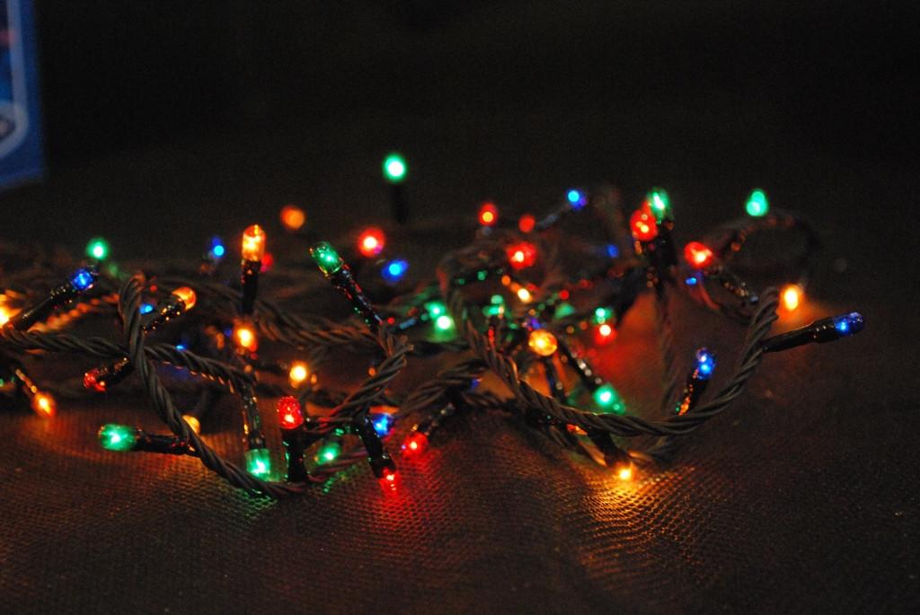Гирлянда нить новогодняя 100 лампочек мульти цвет