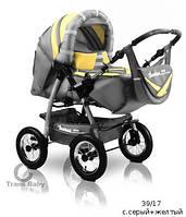 Универсальная коляска-трансформер для двойни Trans baby Taurus Duo 39/17 с.серый+желтый