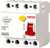 Выключатель дифференциального тока (УЗО) e.industrial.rccb.4.25.30 4р 25А 30мА, фото 1