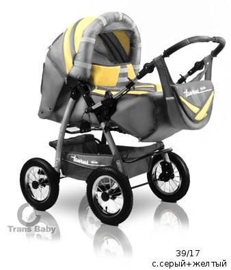 4544e197 Универсальная коляска-трансформер для двойни Trans baby Taurus Duo 39/31 с. серый