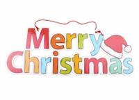 Новогодний декор Merry Christmas 38*14 см (пластик, глянцевая бумага)