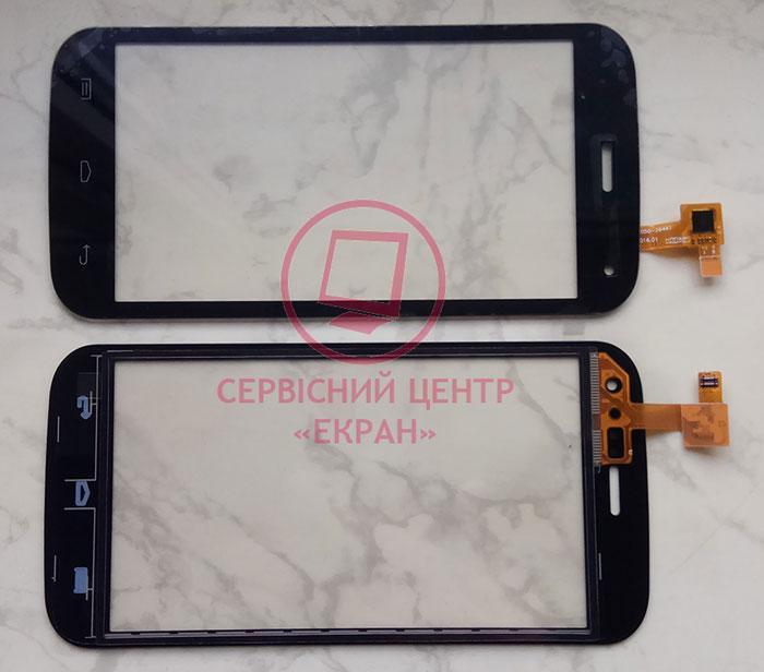 Сенсорний екран для смартфону Explay A500, тачскрін чорний
