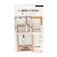 Рамки з чіпборду - Crate Paper - Snow & Cocoa - Glitter - (12 Piece)