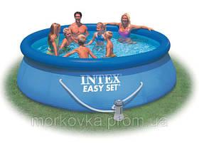 Надувной бассейн Intex 56932 366х91 см насос + фильтр, фото 3