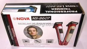 Беспроводная машинка для стрижки волос Nova 8607 , фото 2
