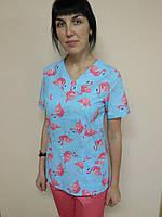 Медицинский хирургический женский костюм 42, Фламинго