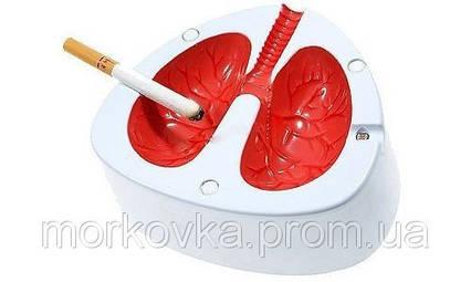 Супер подарок Кашляющая и кричащая пепельница в виде легких , фото 2