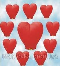 Летающие небесные Китайские фонарики 10шт  сердце , фото 3