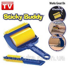 Щетка для чистки одежды ковра Sticky Buddy Стики Бадди валик, фото 3