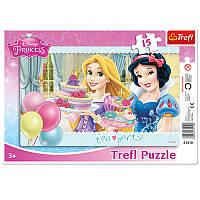 Пазлы для малышей «Чайная вечеринка. Disney Princess» 31210 Trefl, 15 деталей