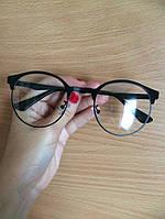 Имиджевые очки металлическая стильная оправа в стиле бренда Tom ford
