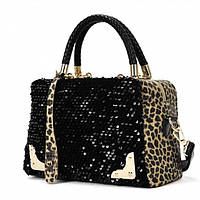 Сумка модная женская Леопард с блесками