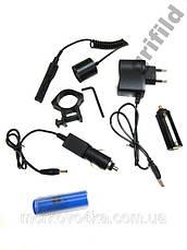 Фонарик подствольный + лазер Police BL-Q9840 5000W, фото 2