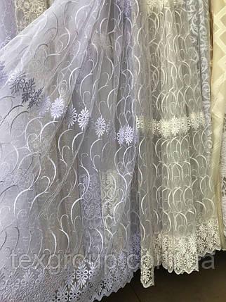 Тюль фатин с нежной вышивкой №306 оптом, фото 2