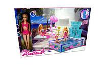 Мебель 66867 24шт2 бассейн, с куклой, фонтанможно исп.воду,стол,стулья,зонт,в кор.