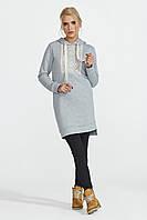 Теплое женское платье серого цвета ТМ Nenka р.S,M
