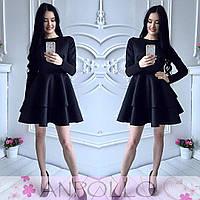 Платье - колокол из неопрена