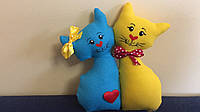 """Іграшка сувенір """"Коти нерозлучники"""" 15 см"""