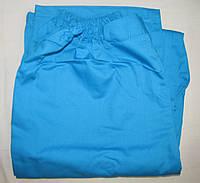 Медицинские штаны из коттона бирюзового цвета.