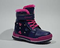 Ботинки зимние-для девочек на меху р.21,23,24,25,26 регулируется полнота и подъем, теплые и качественные