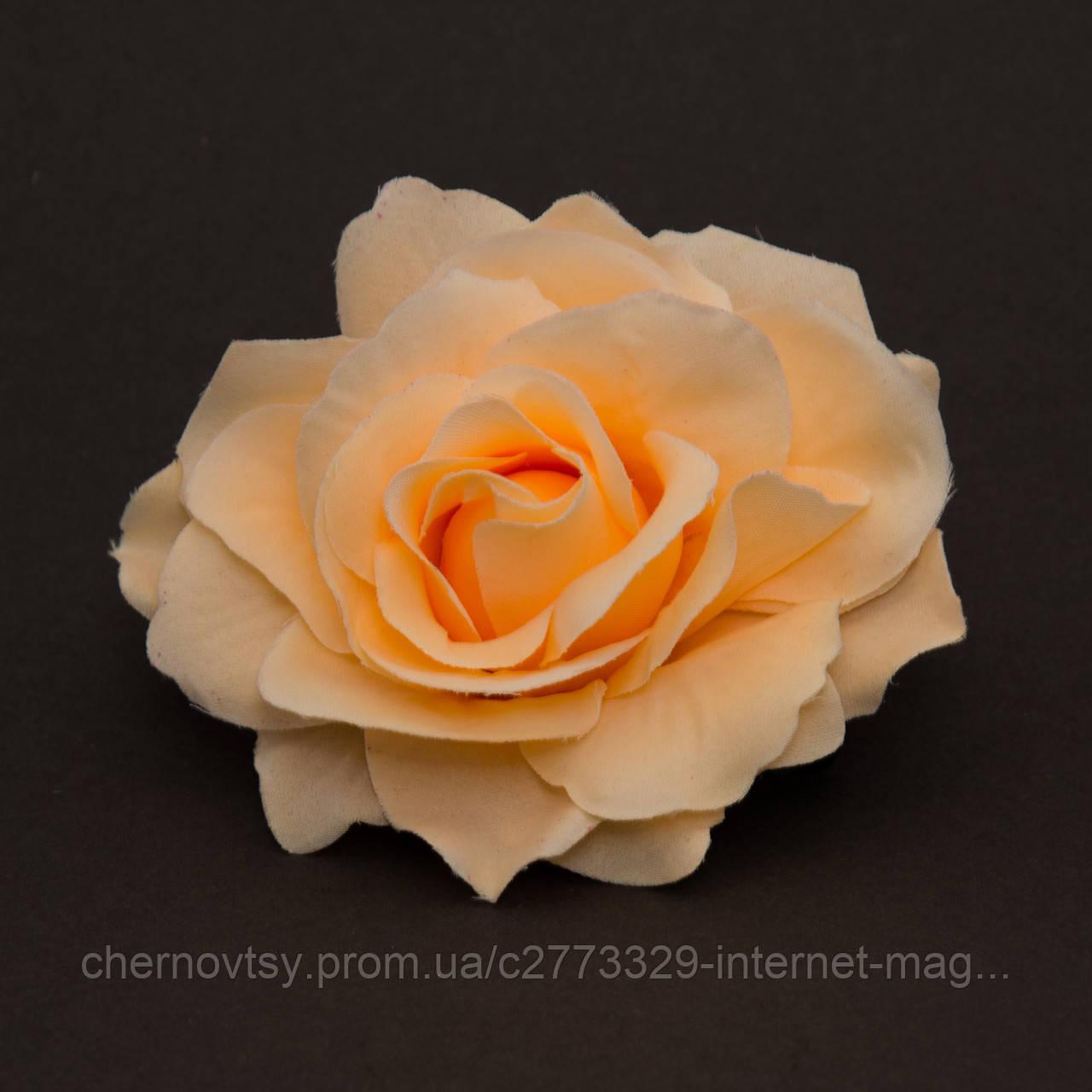 Троянда з тканини велика 11 см