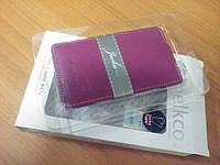 Чехол-флип Melkco для Nokia Lumia 820 фиолетовая кожаная книжка