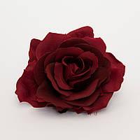 Роза из ткани большая 11 см
