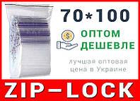 Пакеты струна с замком, застежкой zip-lock 70*100 мм
