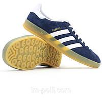 Мужские кроссовки Adidas Gazelle Indoor темно-синие, фото 1