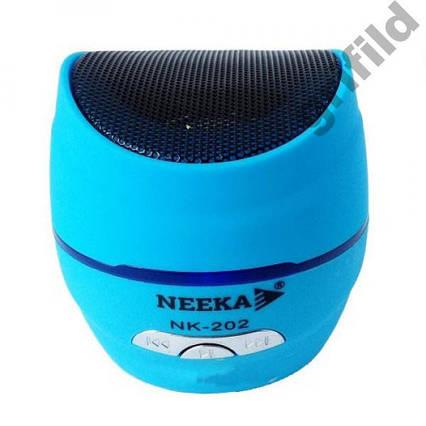 Портативная bluetooth MP3 колонка NK-202 Blue, фото 2