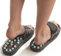Массажёрные шлепанцы FOOT REFLEX+ массажные тапочки