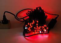 Внешняя Уличная Новогодняя Гирлянда Нить 10м 100 LED Лампочек Цвета в Ассортименте IP 44