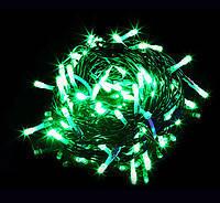 Внешняя Уличная Новогодняя Гирлянда Нить Зеленый Провод 480 LED Лампочек Мультицвет и Белый