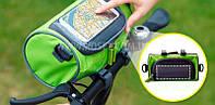 Велосипедная сумка-органайзер на руль (Салатовый, Синий)