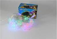 """Новогодняя светодиодная гирлянда 40P T4 многоцветная, """" Снежинки """""""