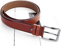 Изящный кожаный ремень известного бренда LMi. Высокое качество. Удобный ремень. Интернет магазин. Код: КДН2594