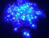 Гирлянда нить светодиодная 500 LED синий цвет прозрачный провод