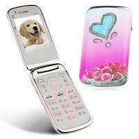 Мобильный телефон Nokia W666 - прекрасный телефон для девушек раскладной телефон 2 SIM