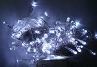 Гирлянда нить светодиодная 500 LED белый цвет прозрачный провод