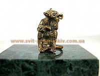 Оригинальный сувенир, бронзовая фигурка Крыса с книгой