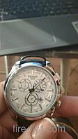 Мужские часы TISSOT Sport (White) кварцевые белый циферблат корпус металл ремешок черный