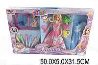 Кукла типа БарбиМодельер 6628-7 1496755 36шт2 куколка,платье-раскраска,флом-ры,кор.50532см