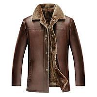 341f728fb36 Мужская кожаная куртка на меху в Украине. Сравнить цены