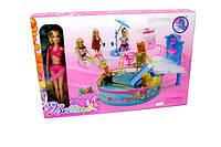 Мебель 66868 24шт2 бассейн, с куклой, фонтанможно исп.воду,стол,стулья,зонт,в кор.