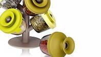 Набор для хранения специй и трав Spice Rack с силиконовыми крышечками