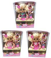 Кукла функц Baby Alive 24783ABC 8шт 3вида,муз,пьетпис,бутыл,тарел,ложка,в кор.3217,540см